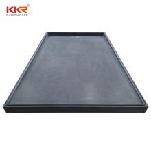 Custom design solid surface artificial stone irregular resin shower tray/base