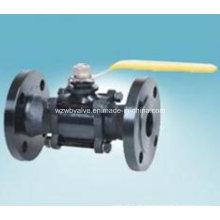 Válvula de esfera de flange de aço carbono Wcb 3-PC