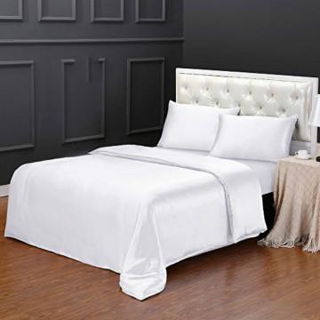 19Momme Silk Duvet Cover Twin with Zipper Pillowcase