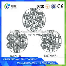 6x37+FC 6x37+IWS 6x37+IWR Navigation Steel Wire Rope