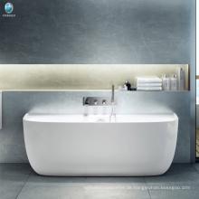 Foshan direkt ab Werk Badezimmer Ecke große Whirlpool / mattes Finish solid Surfacec Eckbadewanne