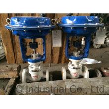 Vanne électrique / pression / débit pour fluide et gaz