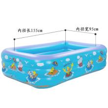 Piscina inflable cuadrada para niños de 2,1 m.