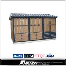 Sous-station de transformateur de sous-station conditionnée électrique de 10 ans 250 kva