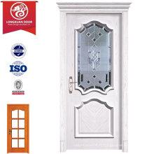 Porte de verre en bois composite de qualité, portes battantes de qualité, Panneau en arche Desgin
