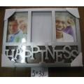 Felicidad plata 4 x 6 pulgadas marco de foto