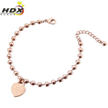 Fashion Jewelry Stainless Steel Heart-Shaped Bracelet