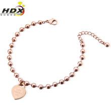 Moda jóias em aço inoxidável pulseira em forma de coração