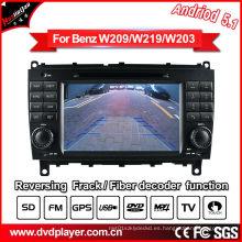 Auto DVD para el Benz Clk W209 / Cls W219 navegación androide del GPS