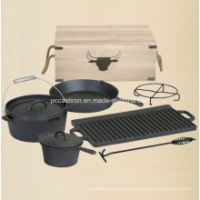 Preseasoned Gusseisen Holländischer Ofen Outdoor Camping Set