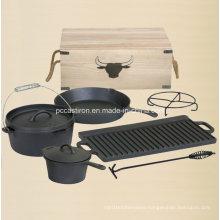 Preseasoned Cast Iron Dutch Oven Outdoor Camping Set