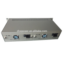 2U 19 inches 14 slots Fiber Media Converter chassis Rack Plug-in Optic Transceivers port Media Converter Chassis