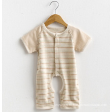 Short Sleeves Striped Baby Romper