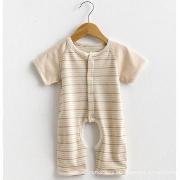 Manga corta rayas bebé mameluco