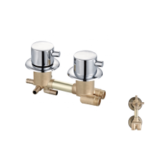 Manufacturer forged 4 function mixer tap wall brass bath shower faucet