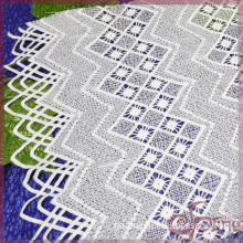 Guipure geometric embroidery lace fabric