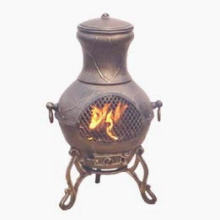 Etruscan Chiminea, Outdoor Fireplace BBQ, Chimenea