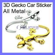 All-Metal 3D Gecko Car Sticker Gecko Shape Chrome Badge Emblem Decal Car Sticker