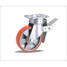 Roda giratória com roda de PU
