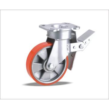Roulette pivotante avec roue PU