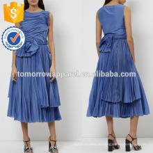 Новая мода яркий синий без рукавов Миди Производство Оптовая продажа женской одежды (TA5216D)
