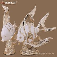 esculturas de los animales del océano esculturas de los pescados de mar para la decoración interior del hogar en el precio de fábrica