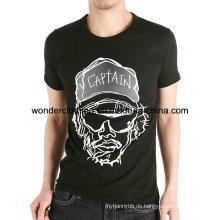 Cool Design Siebdruck Baumwolle Custom Man T-Shirt Herstellung in China