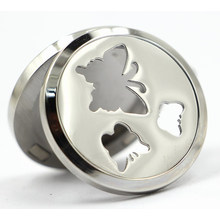 Butterfly Magnet Style 30mm Rd Stainless Steel Perfume Locket