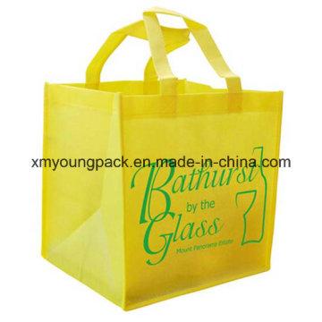 Custom tecido tecido tecido saco reusável para compras