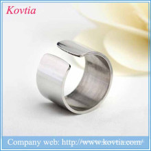2015 new products titanium steel men rings open circle titanium ring