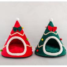 Perrera creativa del perro del sombrero de la navidad de la tienda del nido del animal doméstico