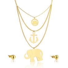 Hohe Qualität Gold Elephant Anhänger Big Modeschmuck Einstellung Set
