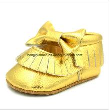 Zapatos de cuero para niños pequeños de interior 02