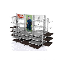 Custom Desig Shop In Shop Display Furniture Large Movable Garment Retail Store Fixtures For Sale