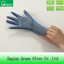 Синие одноразовые перчатки для обработки продуктов питания