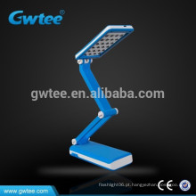 Smart dobrar Solar recarregável levou lâmpada de mesa solar levou lâmpada