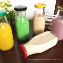 100ml 250ml 500ml garrafas de vidro de leite com tampa de estanho