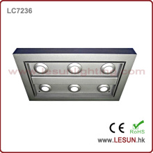 6W / 18W Square LED Ceiling Light Plate for Indoor / Jewelry Store
