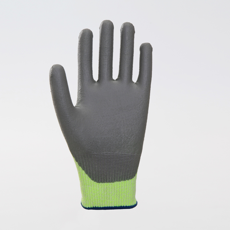 Polyester with Nitrile Coated Safety Gloves