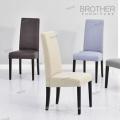 Chaise de salle à manger en cuir de luxe à dossier haut fabriqué en Chine