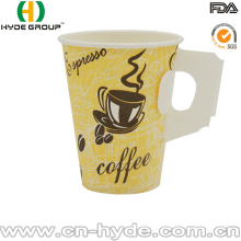 9oz Custom Printing Hot Handle Paper Coffee Cup with Handle