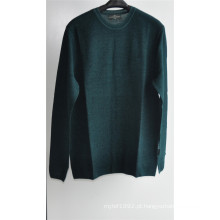 Rodada pescoço puro cor knit pullover homens camisola