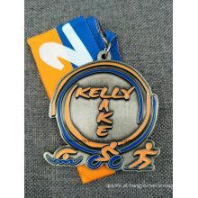 Corrida Personalizada / Esportes / Ouro / Dourado / Maratona / Medalha de Prêmios / Militar / Lembrança