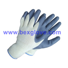 10 Gauge Polyester Liner, Nitrile Coating, Foam Finish Safety Gloves