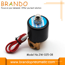 Válvula de solenoide de alta calidad latón cuerpo 2W