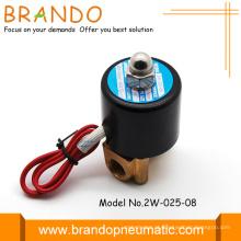 Alta qualidade latão corpo válvula de solenóide 2W