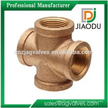 Quente melhor qualidade de qualidade casting npt chumbo personalizado personalizado 1 / 2-4 polegadas latão tubos de conexão cruz e flange