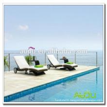 Audu Rattan Outdoor Beach Chair Wheels