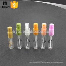 frasco de vidro mini claro 2ml por atacado para perfume