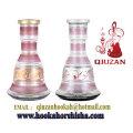 Medium Pink Stripes Mya Shisha Hookah Bottle